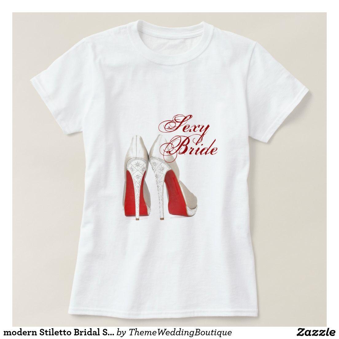 modern Stiletto Bridal Shower bachelorette party T-Shirt