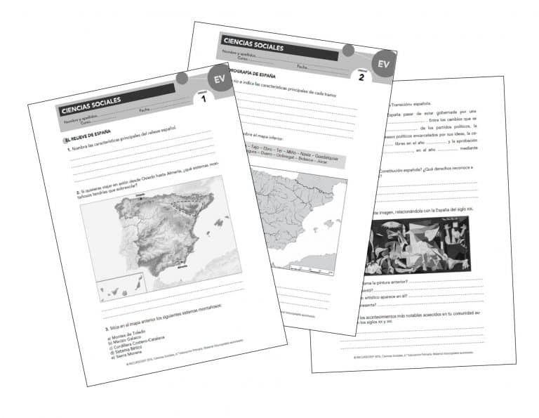 Evaluaciones Propuestas Aprender Es Crecer Anaya Ccss6 Anaya Primaria Geografia E Historia Ciencias Sociales Primaria