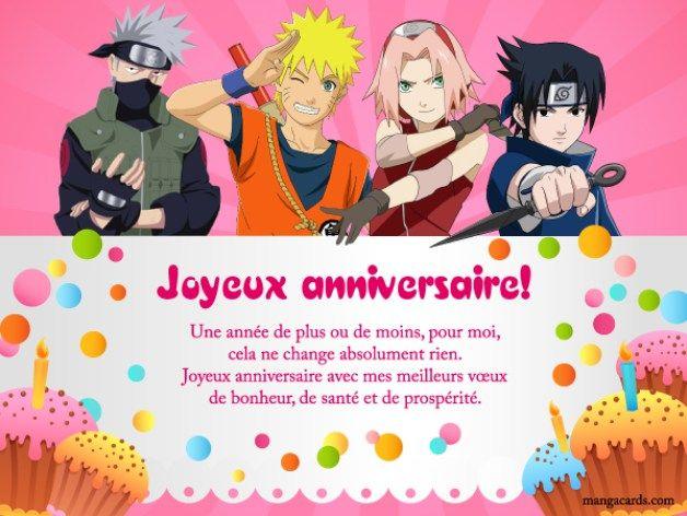 Joyeux Anniversaire Avec Naruto Joyeuse Anniversaire Anniversaire Naruto Carte Invitation Anniversaire
