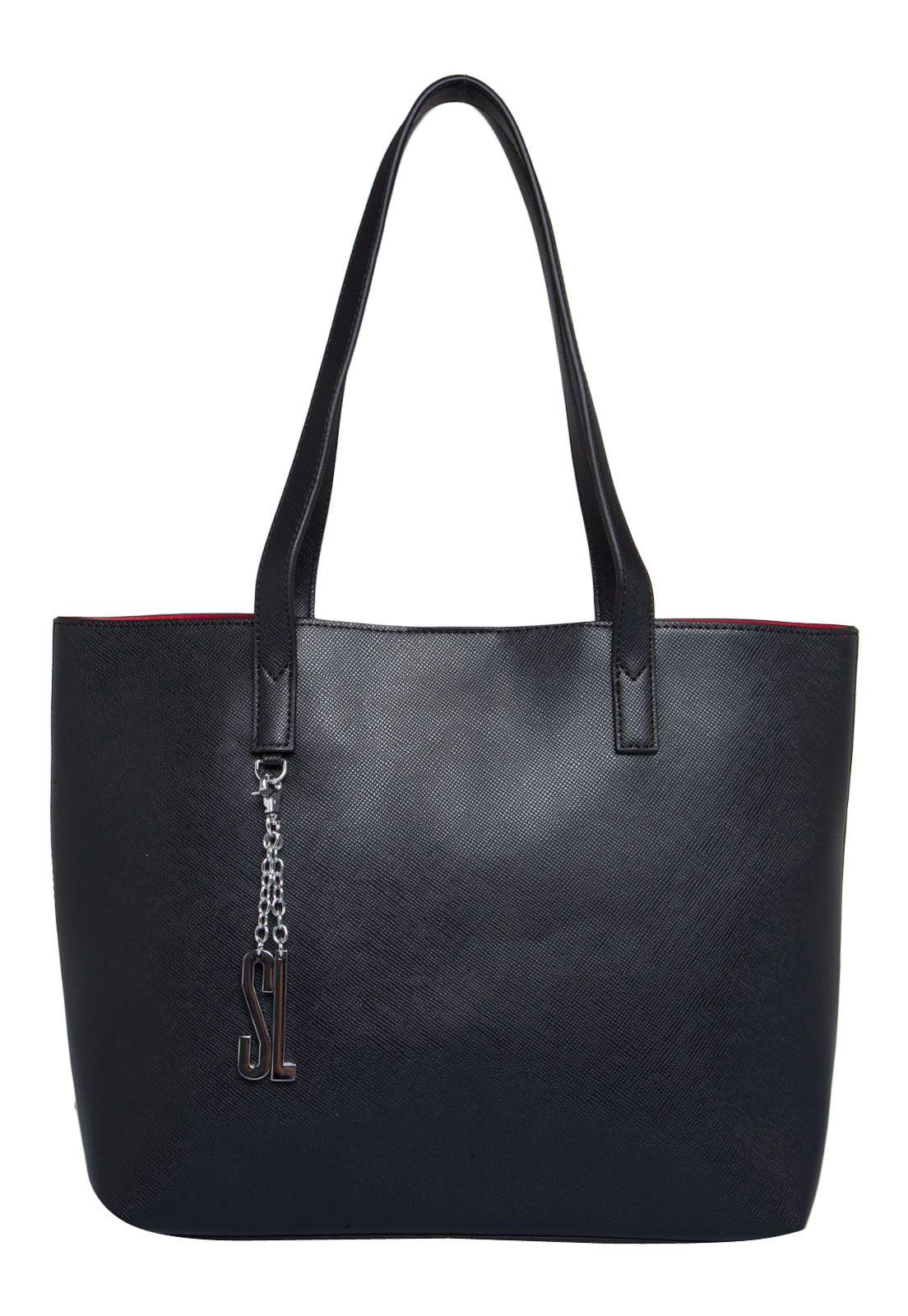 Bolsa Dourada Santa Lolla : Bolsa santa lolla sacola preta marca looks