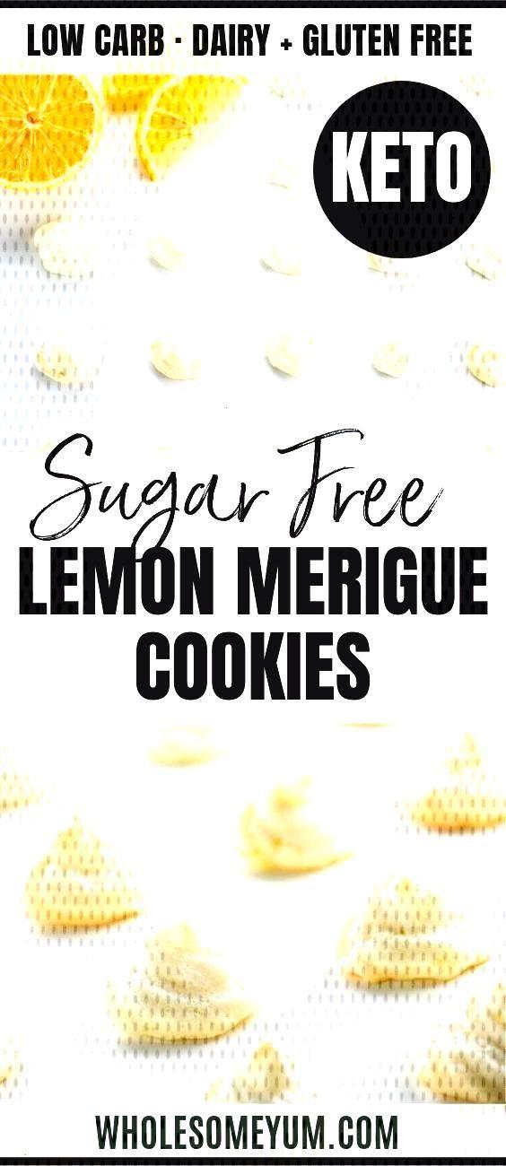 Easy Sugar-Free Lemon Meringue Cookies Recipe - 4 Ingredients - See how to make meringue cookies th