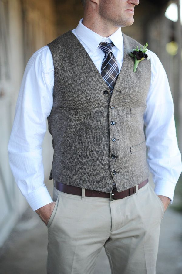 Camarillo Wedding By Hazelnut Photography Mens Dress Vests Groom Vest Mens Tweed Vest