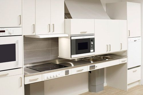 Wheel Chair Accessible Kitchen Cabinet Shelving Lifts Accessible