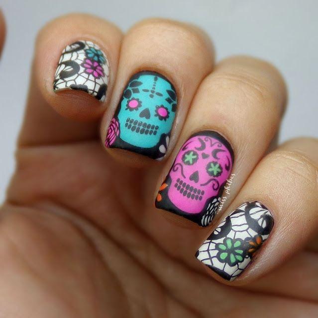 Nail Art Dia de los muertos | Nailspiration | Pinterest | Dia de las ...