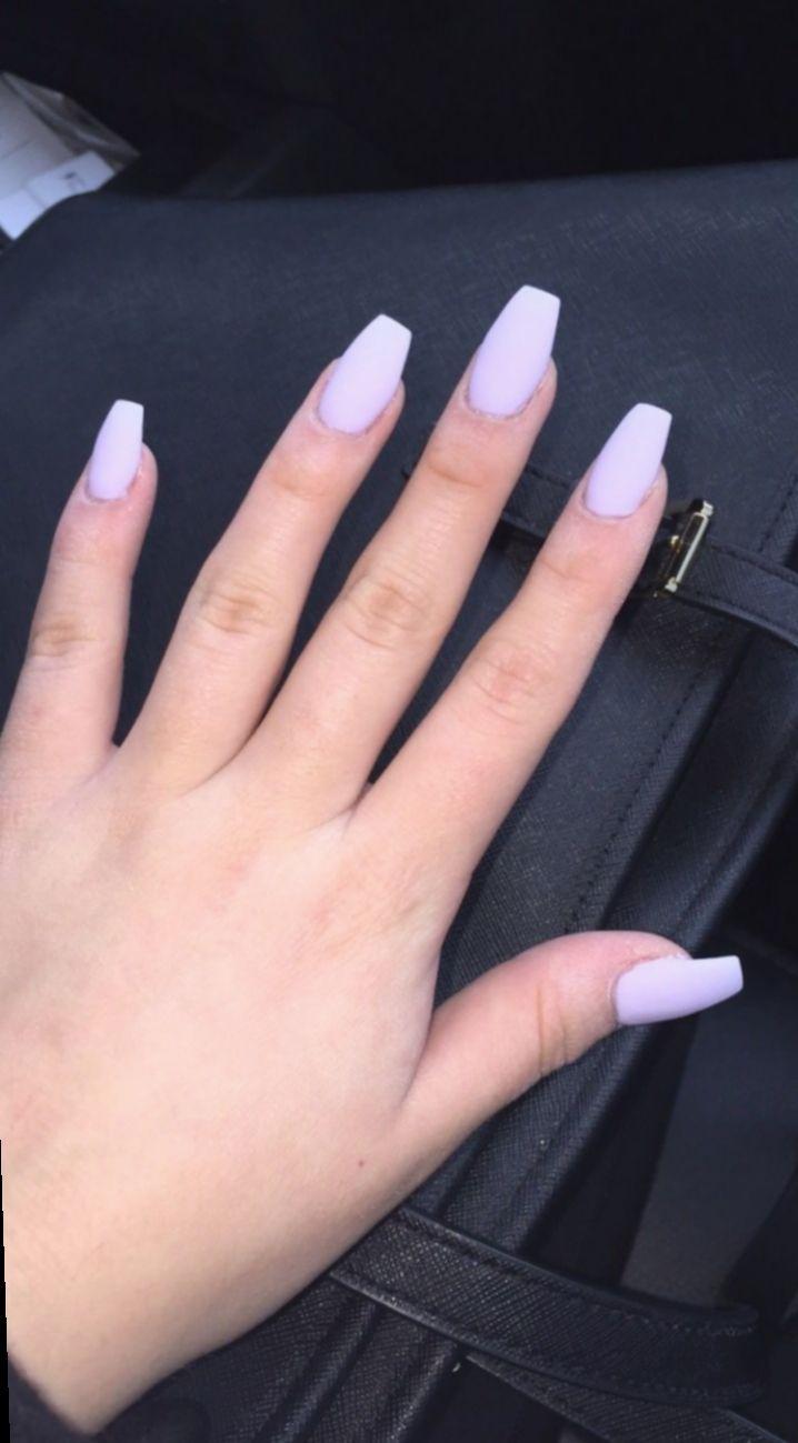 Nail Acrylic Purple Matte Nailspromote Naillove Nailart Purple Acrylic Nails Matte Purple Nails Acrylic Nails Coffin Short
