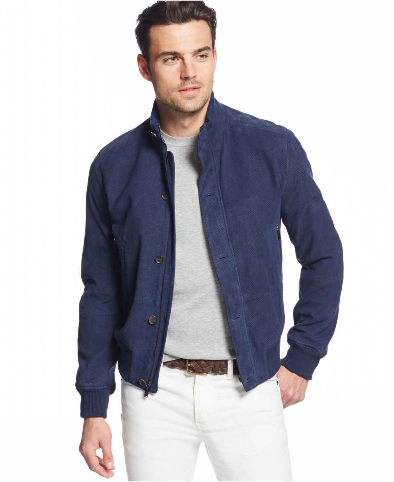 michael-kors-atlantic-blue-perforated-suede-bomber-jacket-blue ...