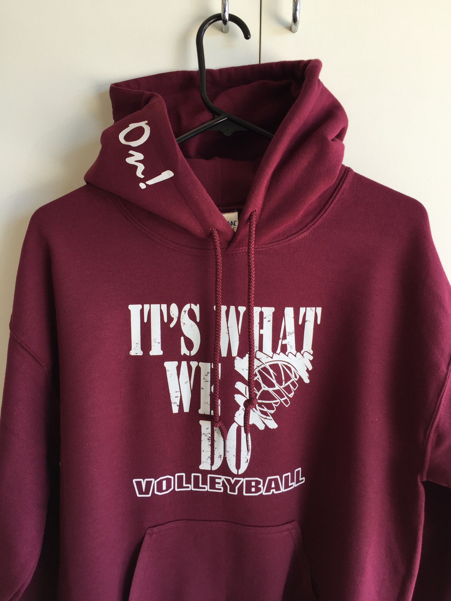 It S What We Do Volleyball Hooded Sweatshirt Volleyball Sweatshirts Volleyball Hooded Sweatshirts