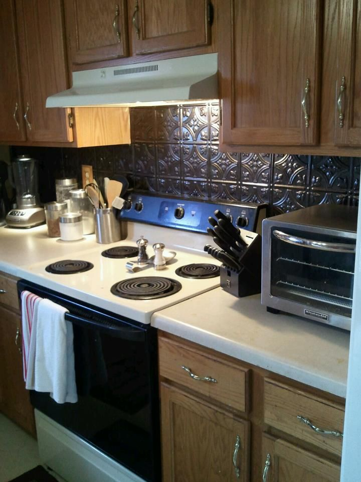 Easy diy backsplash from lowes home pinterest - Lowes kitchen backsplashes ...