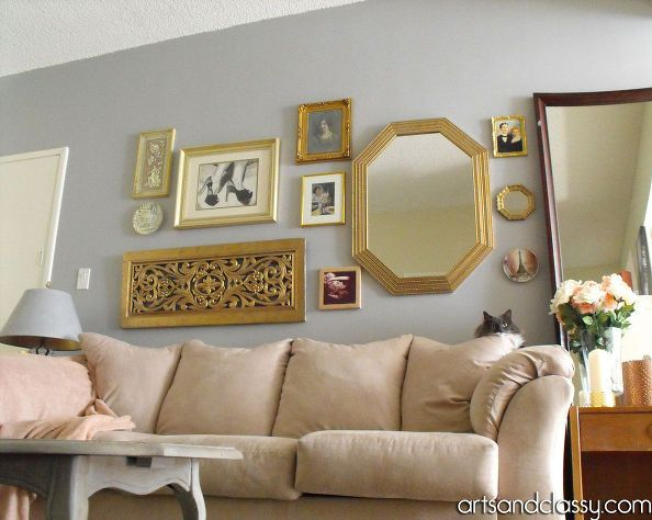 Do It Yourself Gold Octagon Mirror Revamp Octagon Mirror - Picture yourself in a living room