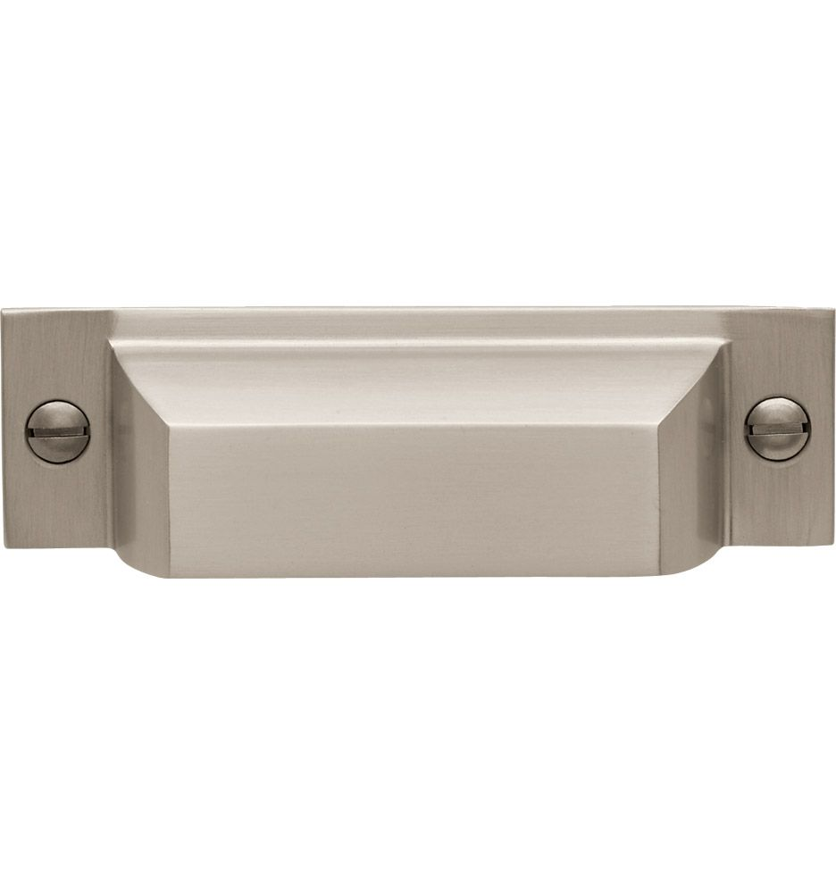 Square Bin Pull in Brushed Nickel from Rejuvenation Lighting u0026 House Parts