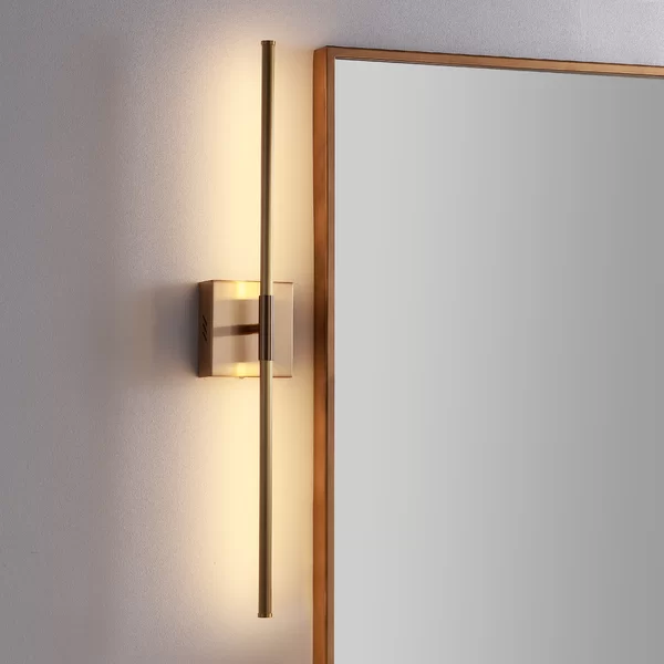 Orren Ellis Gallatin 1 Light Led Dimmable Armed Sconce Wayfair In 2020 Metal Wall Sconce Led Wall Sconce Contemporary Wall Sconces