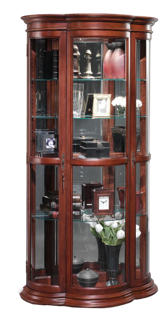 Crescent Curio Cabinet Furniture Store Interior Luxury Interior Design Kitchen Curio Cabinet Decor