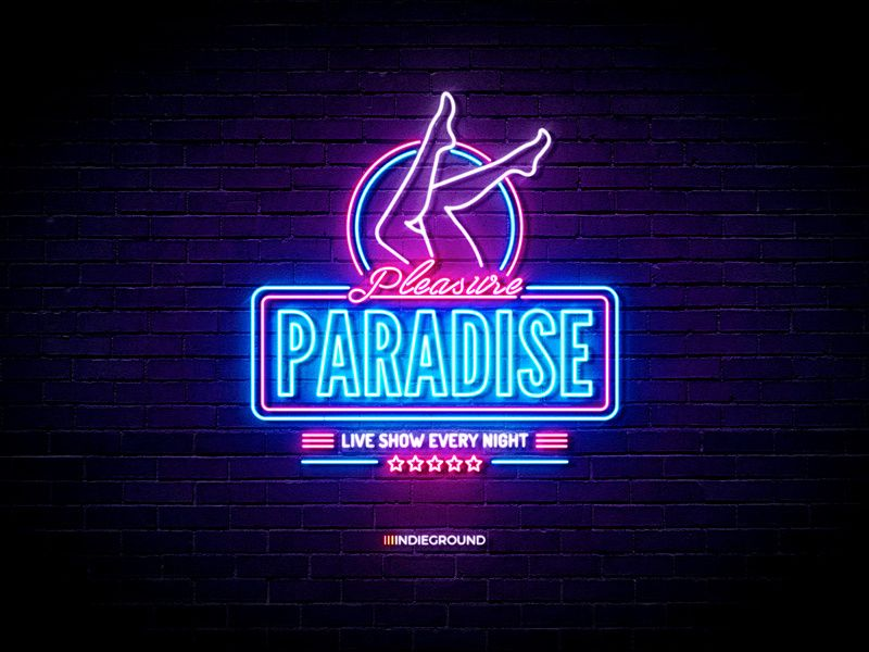 Neon Sign Effects For Photoshop Pleasure Paradise Neon Signs Neon Retro Logos