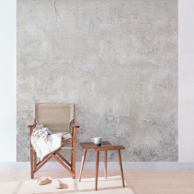 betontapete beton tapete vliestapete shabby betonoptik fototapete quadrat schoner wohnen