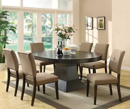 Dining Room Accent Pieces: 103571 Myrtle 7 Piece Set Dining Table 6 Dining Chairs New