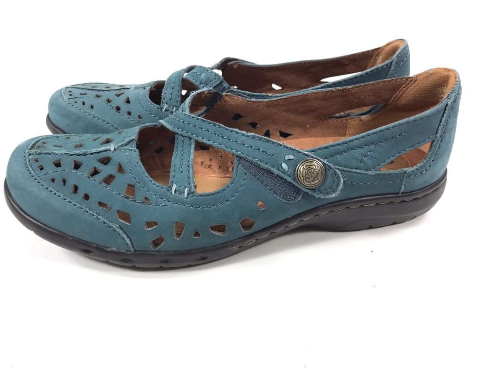 Details about Cobb Hill Pippa Women US 8 Blue Mary Janes Perforated Comfort  walking shoes