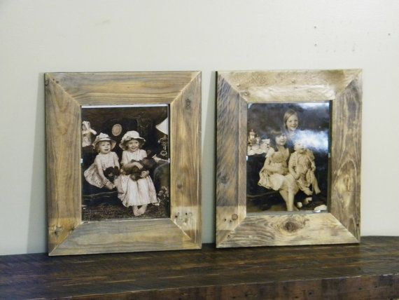 11 x 14 Frame, Reclaimed Wood Picture Frame, Large Wooden Frame ...