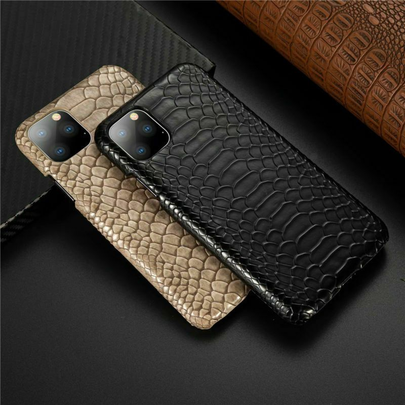 Details about snake skin leather phone case for iphone 11