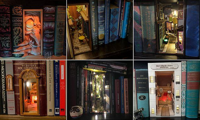 Creative bibliophiles design magical 'book nooks'