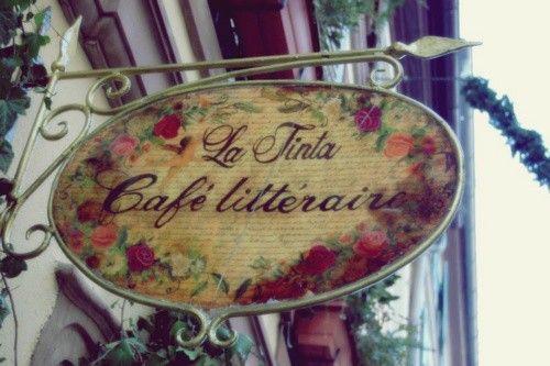 Enseigne; La Tinta Cafe litteraire*