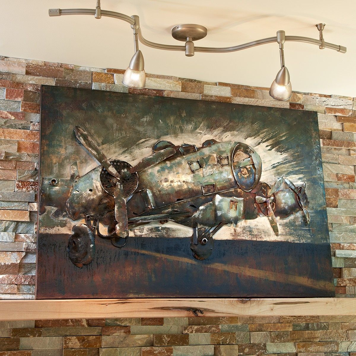 Metal B 17 Bomber Wall Decor With Images Aviation Decor