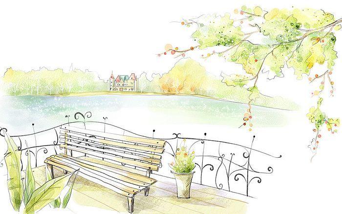 Art Drawing Romantic Scene of the Seasons Romantic Autumn
