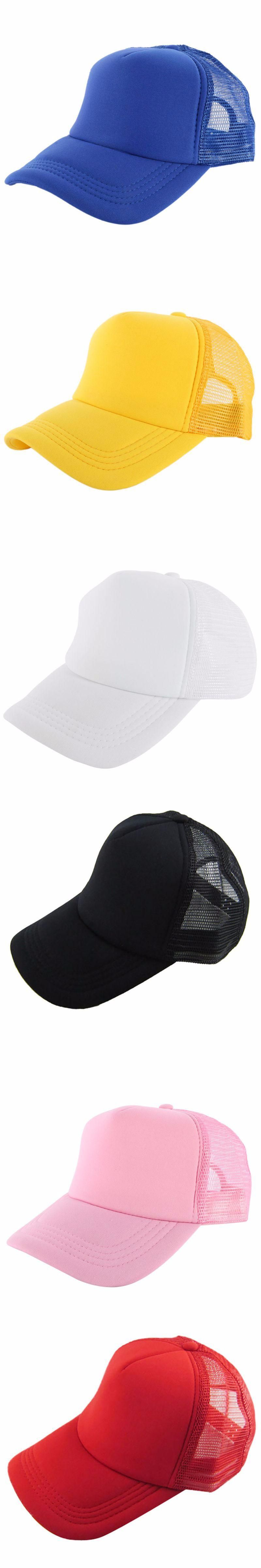 6661b44a7c0 Adjustable Summer Cozy Hats for Men Women Girls Attractive Casual Snapback  Solid Baseball Cap Mesh Blank