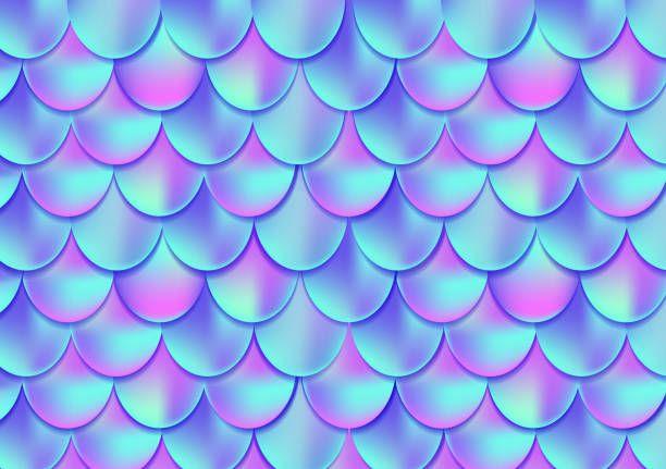 Tarjeta De Cola De Sirena Holográfica O Fondo. Tarjeta De