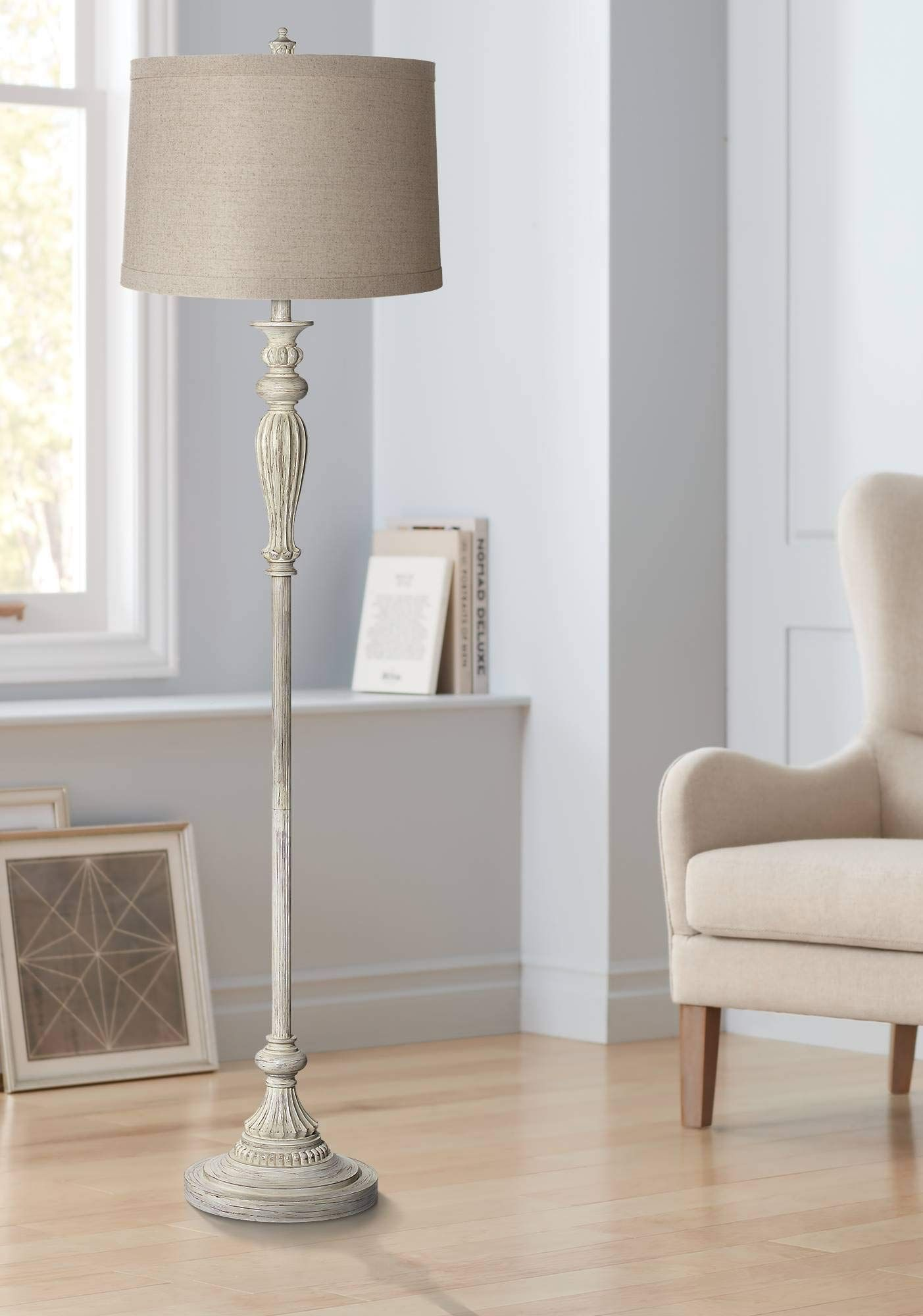 Vintage Lamp Repurposed In 2020 Shabby Chic Floor Lamp Vintage