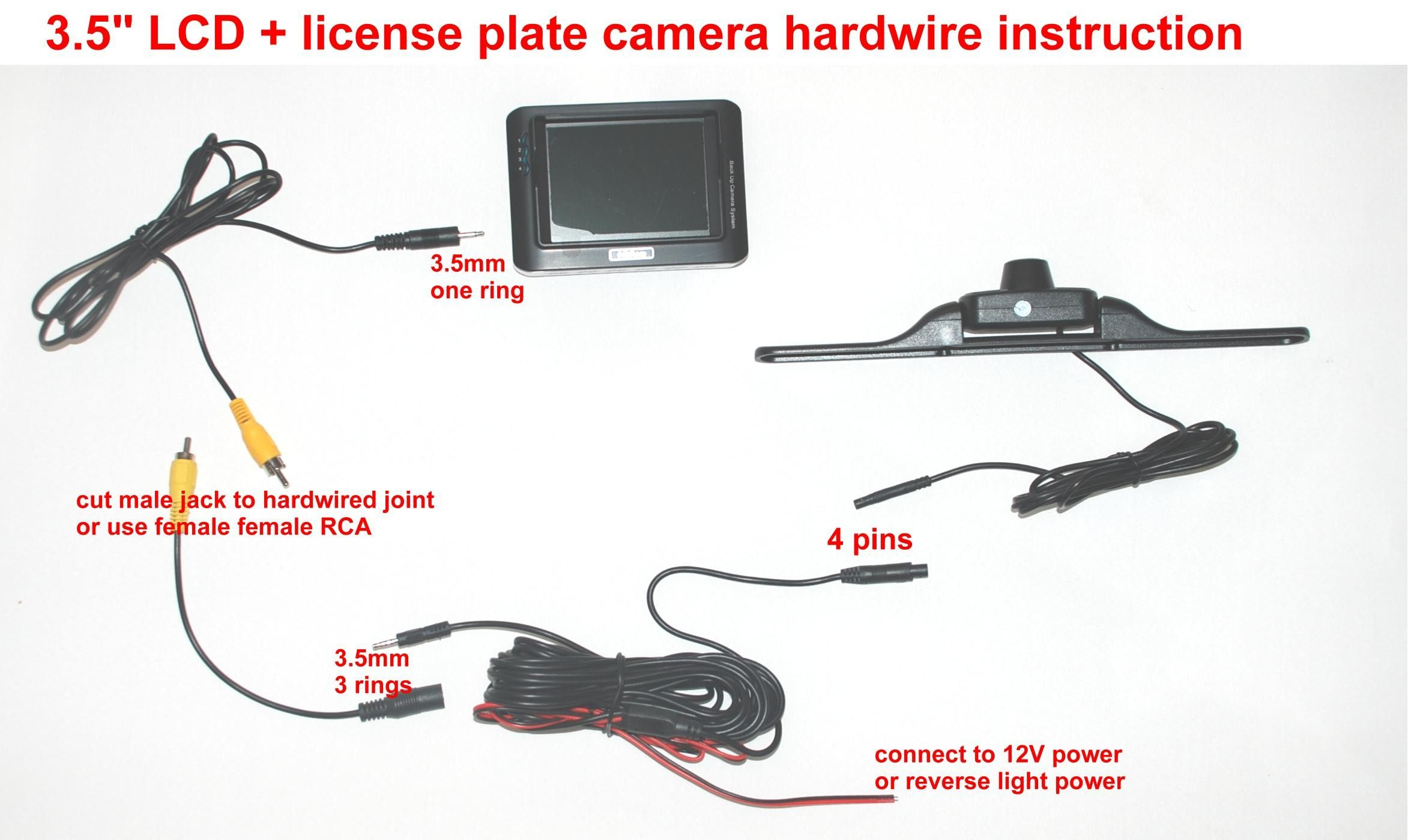 Best Of Tft Lcd Color Monitor Wiring Diagram In 2020 Reverse Camera For Car Plate Camera Automotive Electrical