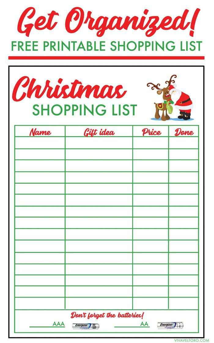 Free Shopping List Template Make Your List And Check It Twice With Our Free Christmas Shopping .
