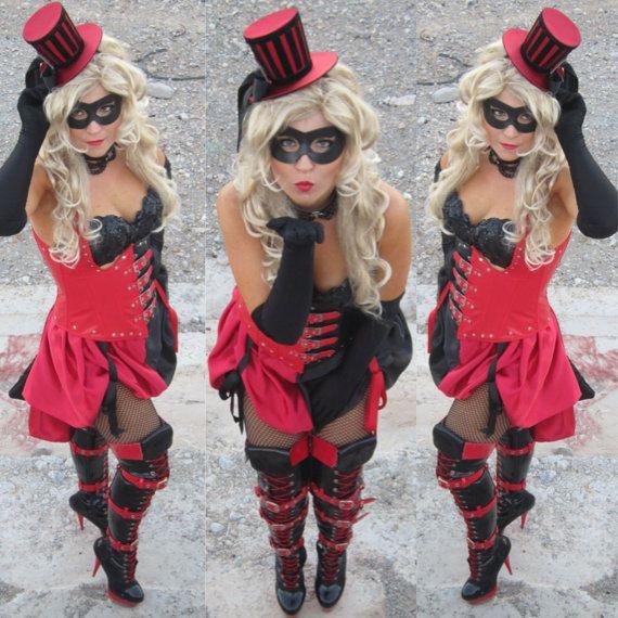 Burlesque Steampunk  HARLEY QUINN Costume by VivaWonderWoman, $240.00