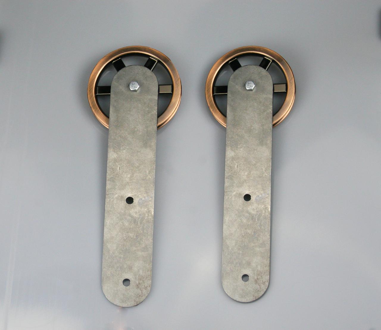 Copper Jumbo Wheel Barn Door Hardware Kit Barn Door Hardware Doors Mini Barn Door Hardware