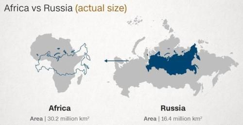 The russia compared to africa then compared to the mercator on a typical world map canada is a vast nation home to six time zones its gumiabroncs Images