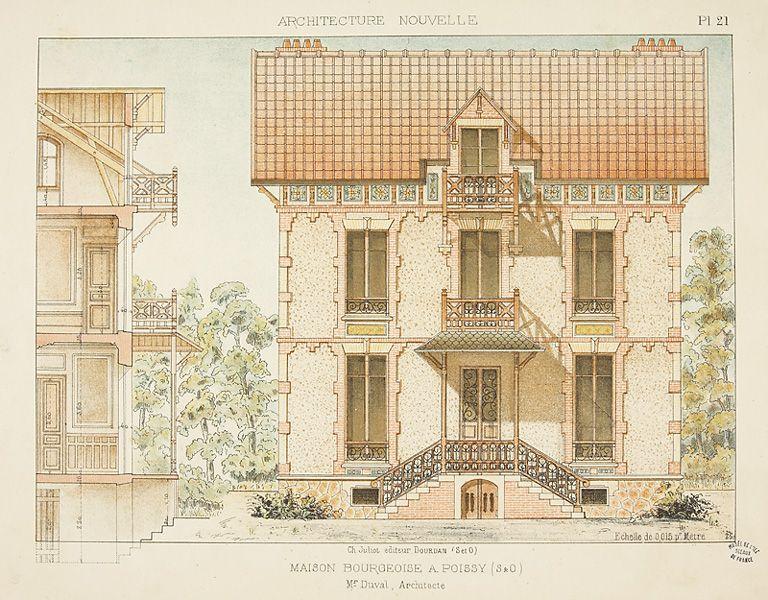 Maison bourgeoise à Poissy Architeture Pinterest - dessiner plan de maison