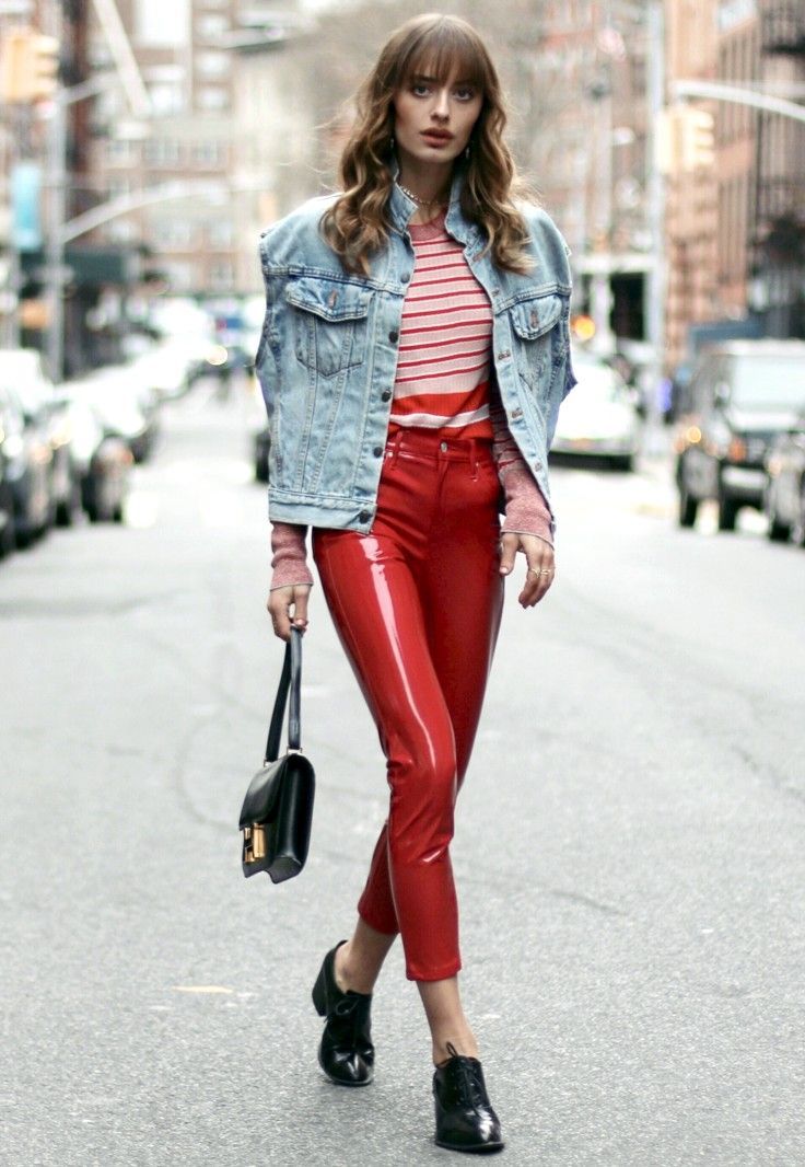13aad1a774c7 the lady in red… vinyl pants