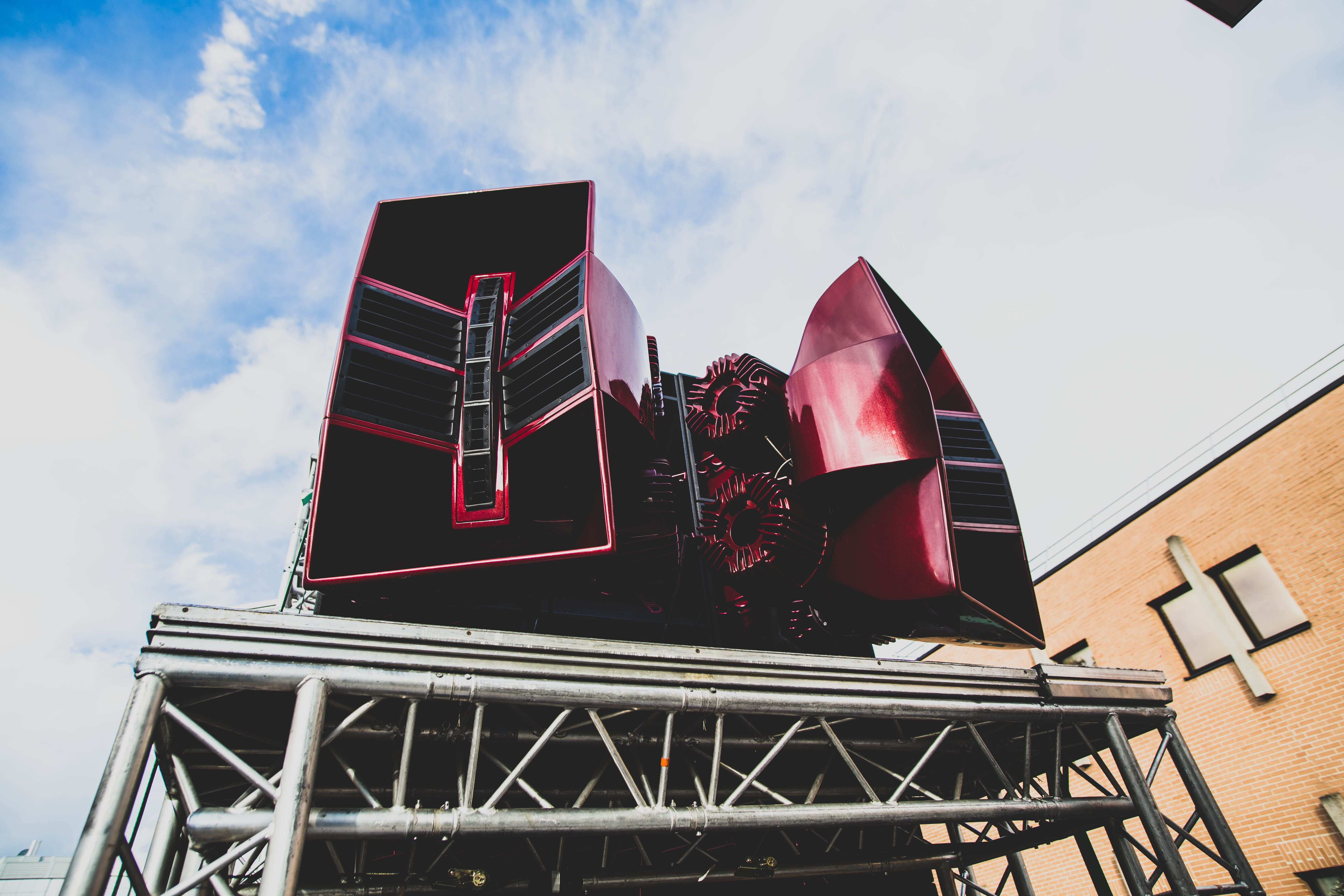 Air Arrays at the Paris Techno Parade Bluetooth speakers