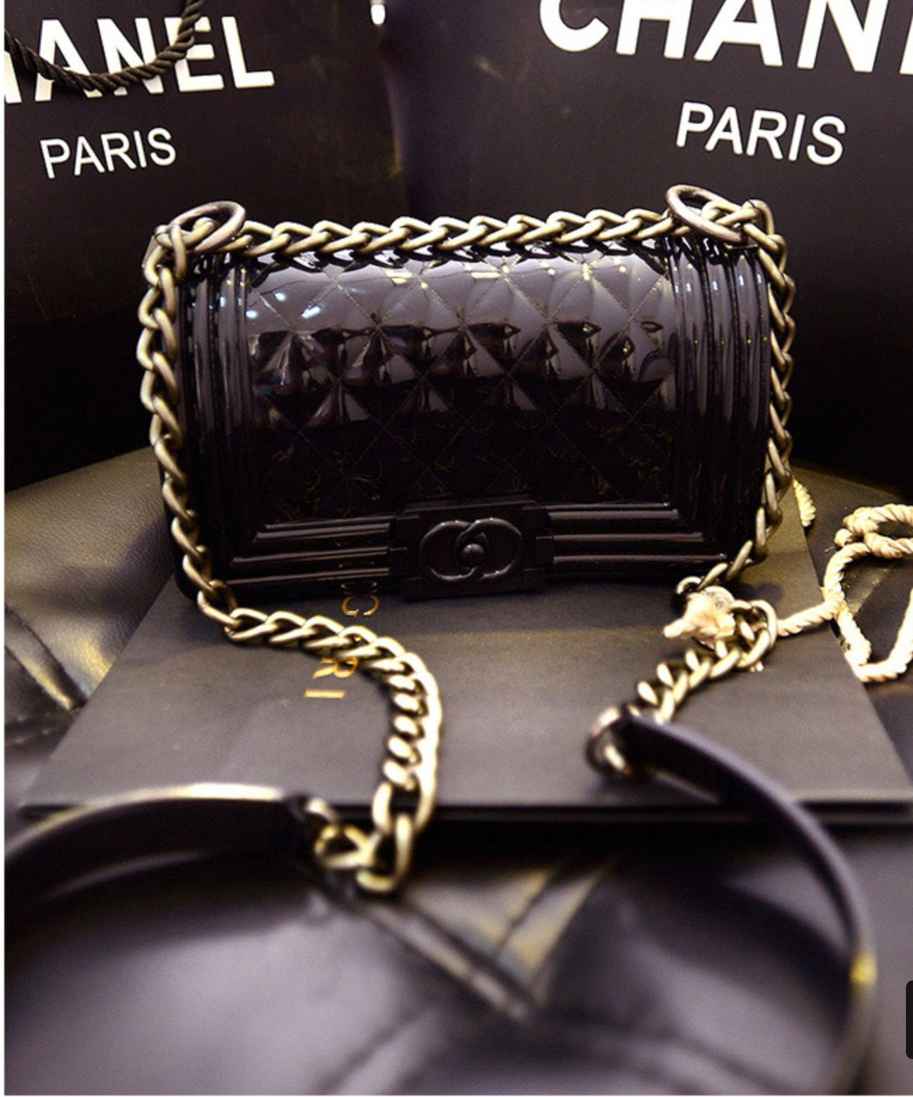 b61c86a96c69ec CHANEL Le boy Jelly Bag. If you like this bag, you can log in our web:  www.aiLoveBgas.net to purchase.