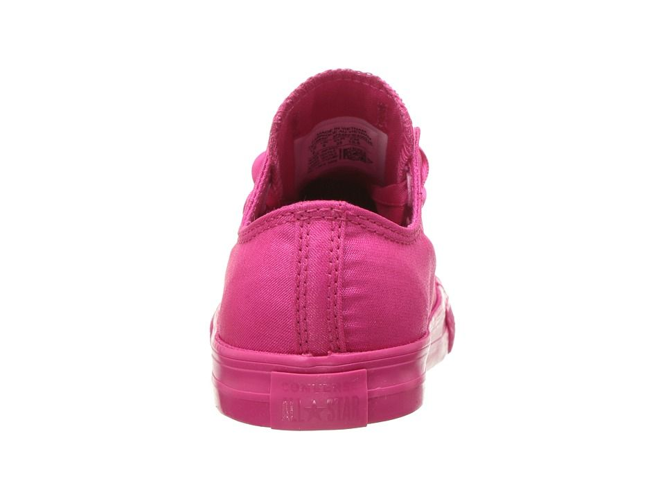 8a3e6ff29a Converse Kids Chuck Taylor(r) All Star(r) Big Eyelets - Ox (Infant Toddler) Girl s  Shoes Pink Pop Pink Pop Pink Pop