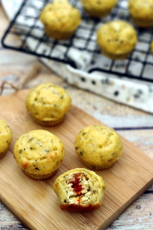 Mini muffin apéritif coeur boursin - Amandine Cooking