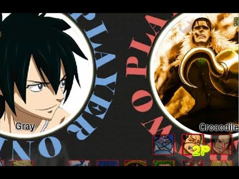 Fairy Tail Vs One Piece 1.0 - Gray VS Crocodile   Fairy ...