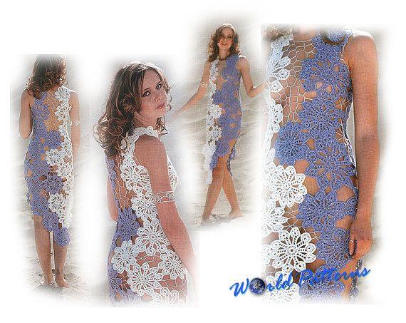 Crochet Patterns Russian Magazine Ebook Irish Lace Dresses Wedding