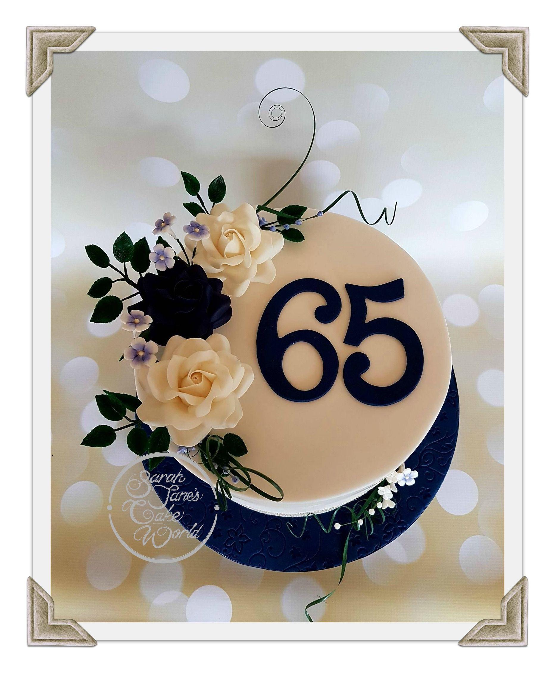 65th (sapphire) Wedding Anniversary Cake