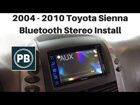 2004 2010 Toyota Sienna Bluetooth Stereo Install Pioneer Avh 280bt Youtube In 2020 Toyota Sienna Toyota Installation