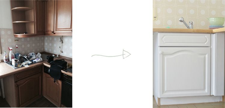 Alte Küche weiß streichen | BEFORE AND AFTER HOME | Kitchen Cabinets ...