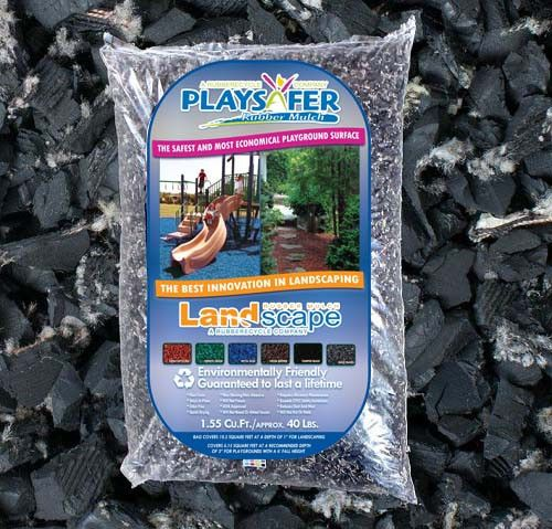 Playsafer Black Rubber Mulch Natural Unpainted Rubber Mulch Black Rubber Mulch Mulch