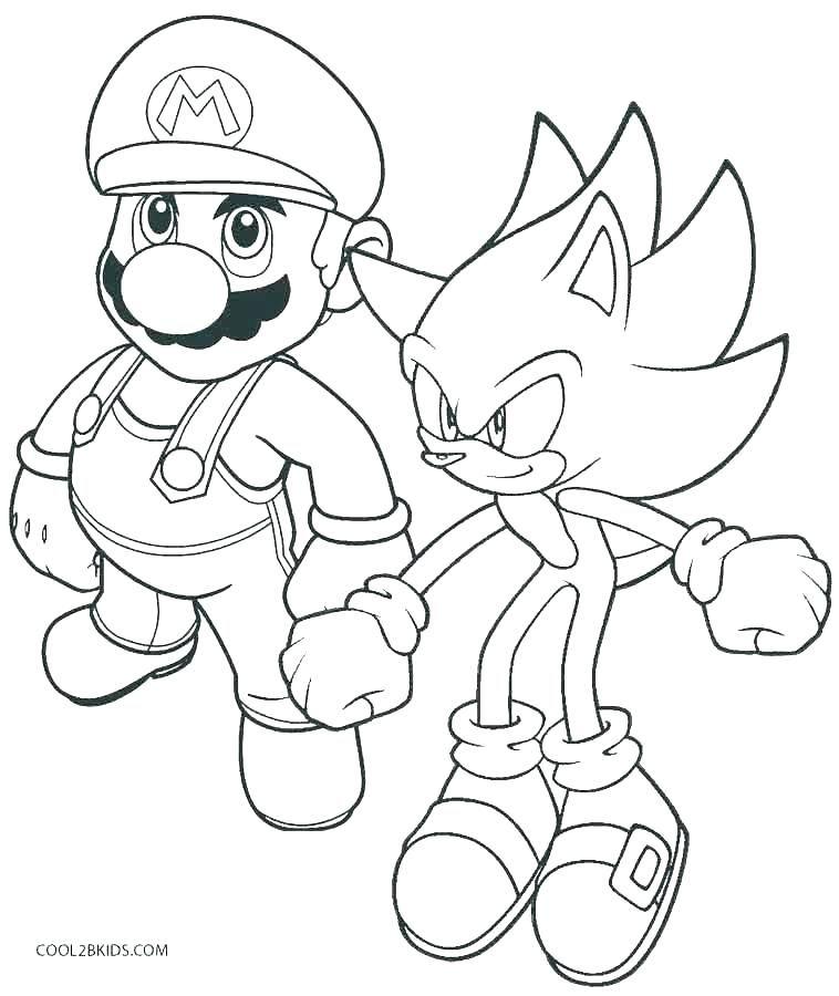 Super Mario Coloring Page Beautiful Stock Super Mario ...
