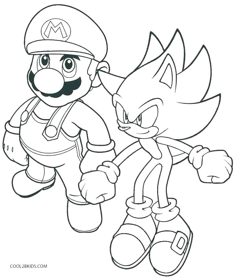 Super Mario Coloring Page Beautiful Stock Super Mario Coloring