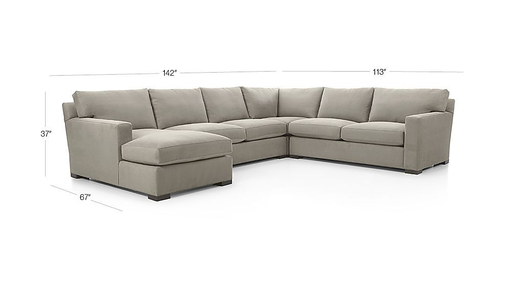 Axis Ii 4 Piece Sectional Couch Reviews Crate And Barrel