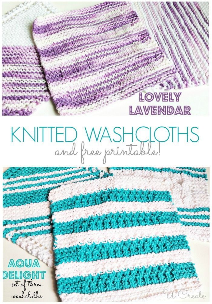best. washcloths ever. are knitted ones - free printable to give as ...